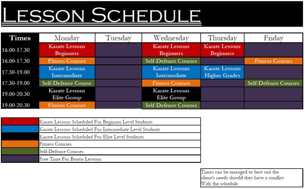 Rising Phoenix Schedule